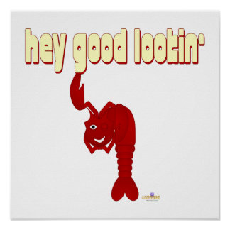 Winking Red Lobster Hey Good Lookin' Print