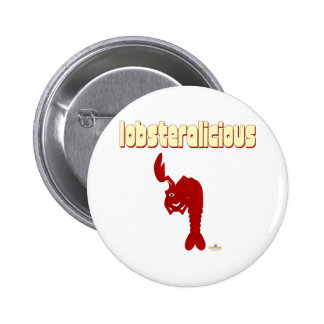 Winking Red Lobster Lobsteralicious Button