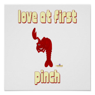Winking Red Lobster Love At First Pinch Posters