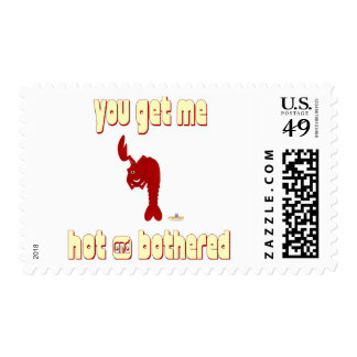 Winking Red Lobster You Get Me Hot And Bothered Postage Stamp