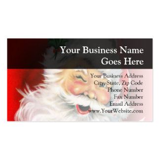 Winking Santa Business Card Template