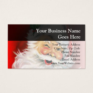 Santa claus business cards templates zazzle winking santa business card colourmoves Gallery