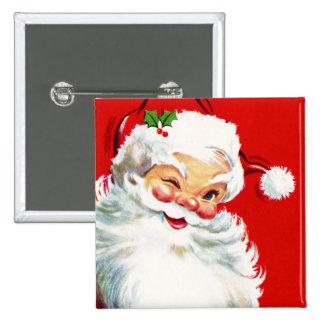 Winking Santa Button