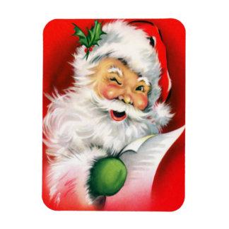 Winking Santa Christmas Naughty or Nice List Funny Magnet