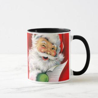 Winking Santa Mug
