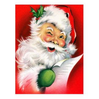 Winking Santa Post Cards