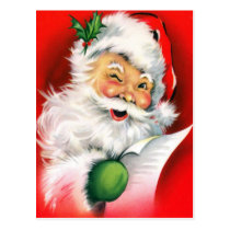 Winking Santa Postcard