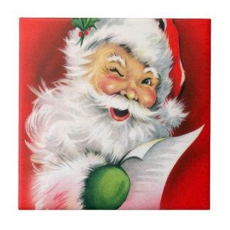 Winking Santa Tile