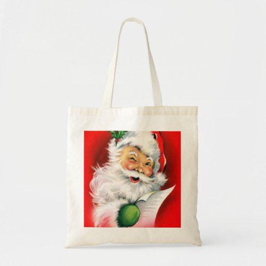 Winking Santa Tote Bag