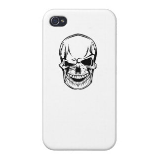 Winking Skull Case For iPhone 4