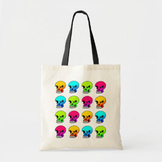 Winking Skulls Collage Bag