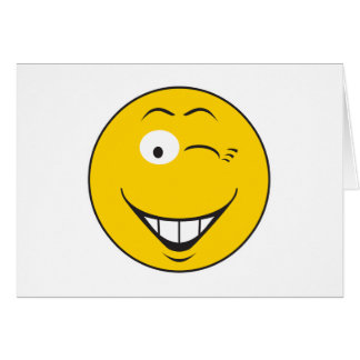 Winking Smiley Face Card