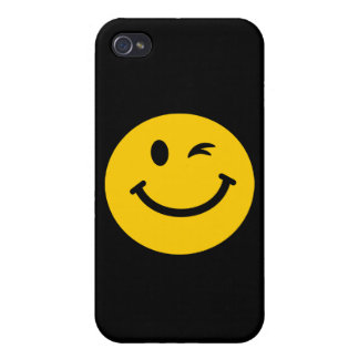 Winking smiley face cover for iPhone 4