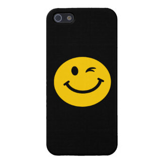 Winking smiley face cover for iPhone SE/5/5s