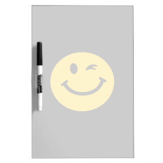 Winking smiley face Dry-Erase whiteboards