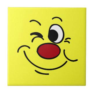 Winking Smiley Face Grumpey Tile