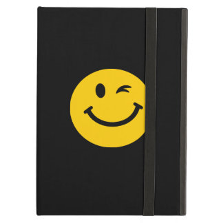Winking smiley face iPad cases