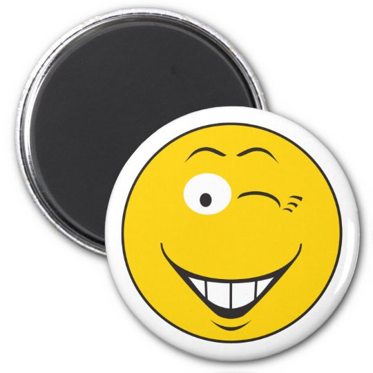 Winking Smiley Face Magnet