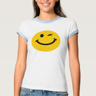 Winking smiley face t shirt