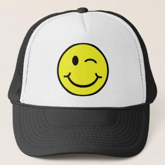 Winking Smiley Trucker Hat