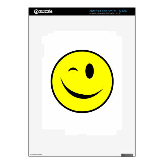Winking Smiley Yellow Decals For iPad 3