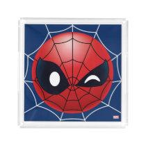 Winking Spider-Man Emoji Acrylic Tray