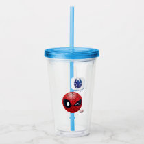Winking Spider-Man Emoji Acrylic Tumbler