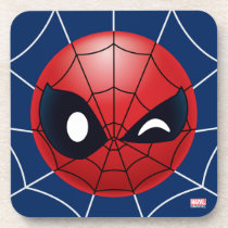 Winking Spider-Man Emoji Beverage Coaster