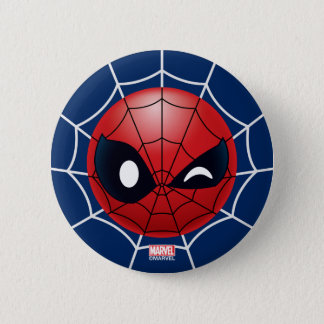Winking Spider-Man Emoji Button