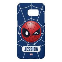 Winking Spider-Man Emoji Samsung Galaxy S7 Case