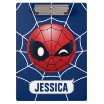 Winking Spider-Man Emoji Clipboard