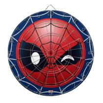 Winking Spider-Man Emoji Dart Board