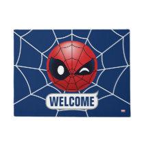 Winking Spider-Man Emoji Doormat