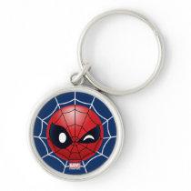 Winking Spider-Man Emoji Keychain