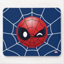 Winking Spider-Man Emoji Mouse Pad