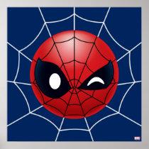 Winking Spider-Man Emoji Poster