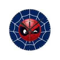Winking Spider-Man Emoji Round Clock