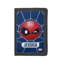 Winking Spider-Man Emoji Tri-fold Wallet