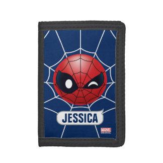 Winking Spider-Man Emoji Tri-fold Wallets