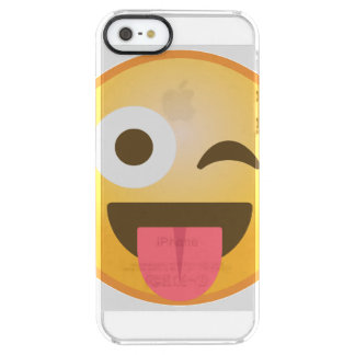 Winking Tongue Emoji Clear iPhone SE/5/5s Case