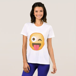 Winking Tongue Emoji T-Shirt