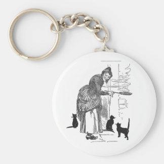 Winking Witch Nursery Rhyme Basic Round Button Keychain