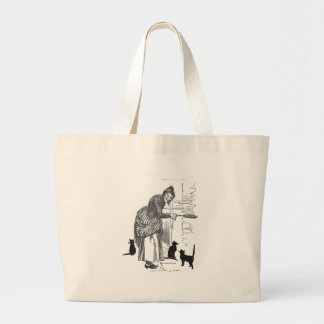 Winking Witch Nursery Rhyme Large Tote Bag