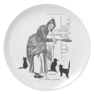 Winking Witch Nursery Rhyme Plate