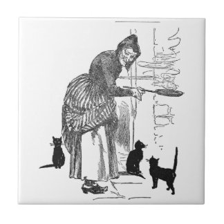 Winking Witch Nursery Rhyme Ceramic Tile