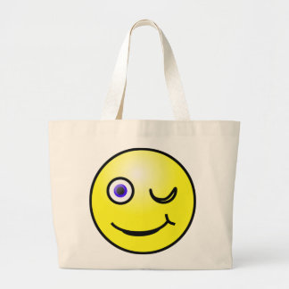Winking Yellow Face Tote Bag