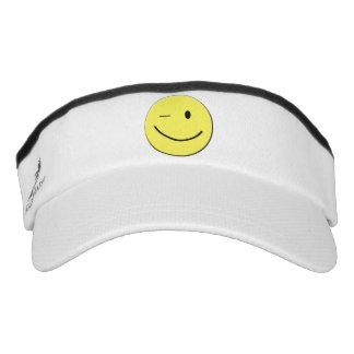 Winking Yellow Smiley Face Visor