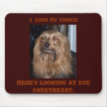 Winking Yorkie Mouse Pads