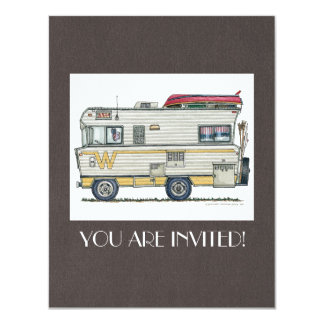 Winnebago Camper RV Apparel 4.25x5.5 Paper Invitation Card