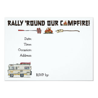 Winnebago Camper RV Apparel 5x7 Paper Invitation Card